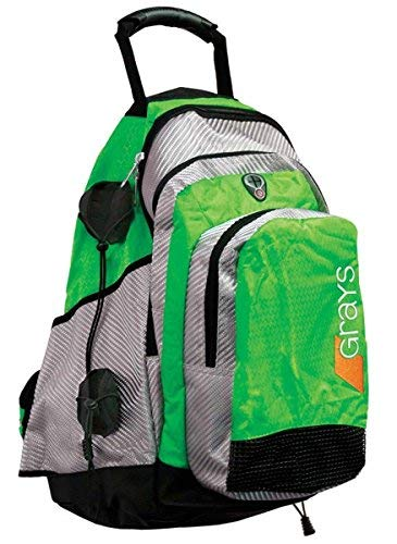 (GRAYS Field Hockey Backpack NEON Green/Silver)