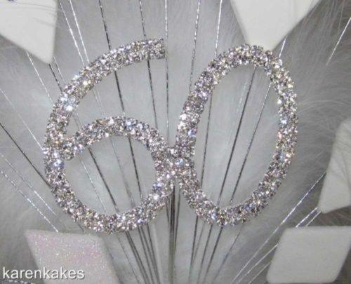 Big And Beautiful 60th Diamond Wedding Anniversary Cake Topper ...