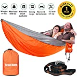 Best Gift Garden Gifts For A Men - Fathers Day Double Camping Hammock Foldable Portable Lightweight Review