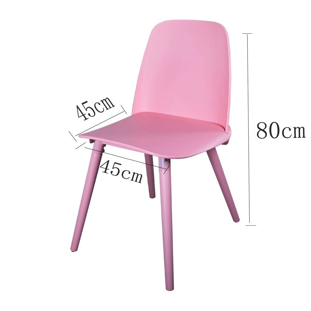 HEJINXL Matstolar i plast, retro design massivt trä boktben kök matstol sovrum kök restaurang kontor vardagsrum stol kan bära 180 kg (färg: C) D