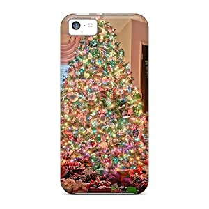 Tpu Case For Iphone 5c With Family Christmas Tree