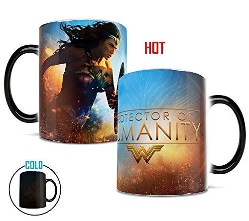 Morphing Mugs Wonder Woman Movie Protector of Humanity Heat Reveal Ceramic Coffee Mug - 11 Ounces