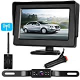 "Cheap Emmako Backup Camera Digital Wireless and 4.3"" Monitor Kit No Flickers for Car/RV/Truck/5th Wheel/Trailer Guide Lines ON/Off IP68 Waterproof Rear/Side/Front Facing View System Reverse/Driving Use"