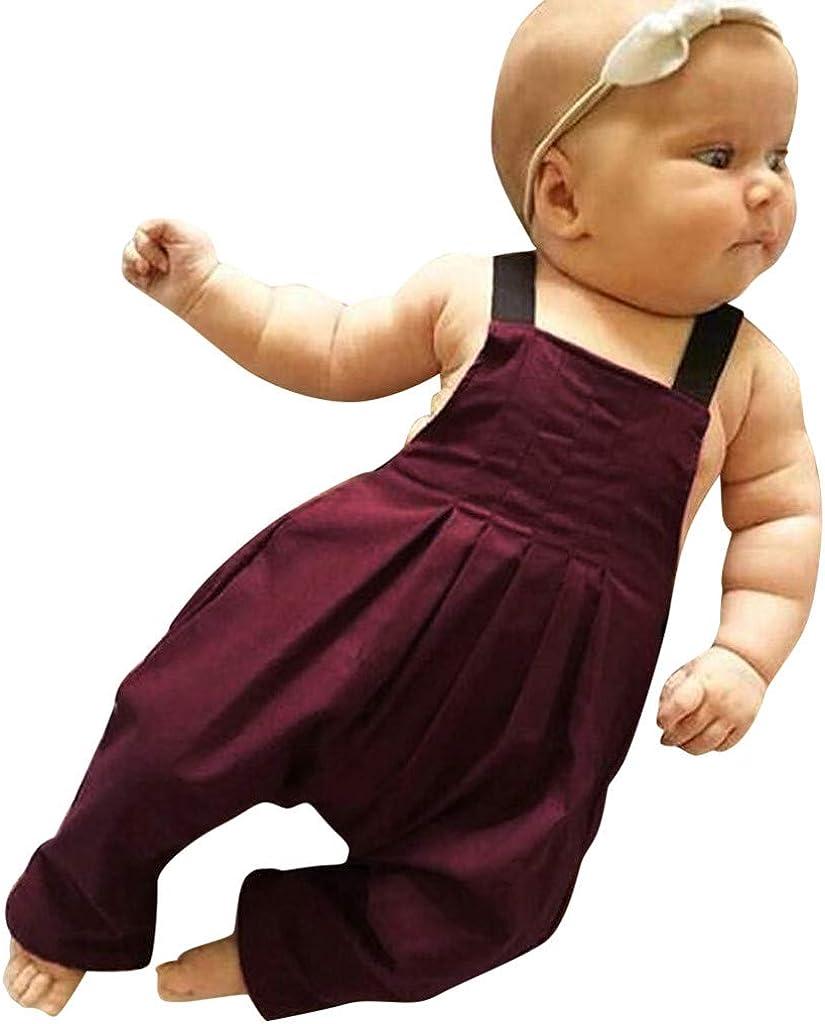 Divertido Pijama,K-Youth Pantalones de Peto para Beb/é Body Bebe Ni/ña Tirantes Sin Espalda Ropa Bebe Recien Nacido Pelele Bebe Ni/ño Verano Mameluco Bebe Ni/ñas Bodies Ni/ños Mono