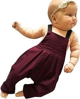 Baiomawzh Ropa Bebe Niña Niño de 0 a 18 Meses Verano-Mono De Una ...