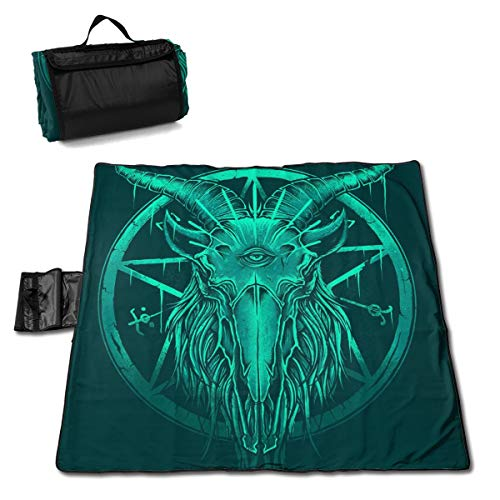 - Baphomet Eyes Large Picnic Blanket Beach Blanket Washable Outdoor Blanket Folds Into A Tote Bag 57