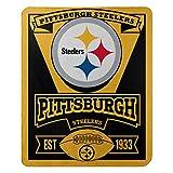 "NFL Pittsburgh Steelers Marque Printed Fleece Throw, Black, 50 x 60"""