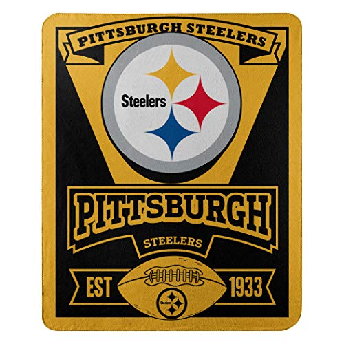 The Northwest Company 1NFL/03102/0078/AMZ NFL Pittsburgh Steelers Marque Printed Fleece Throw, 50