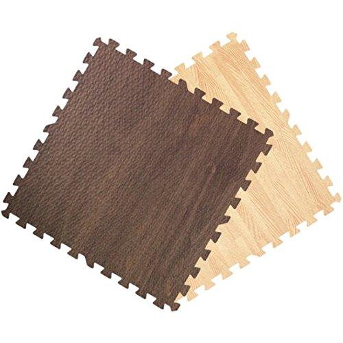 Get Rung Oak Woodgrain Fitness Mat With Interlocking Foam