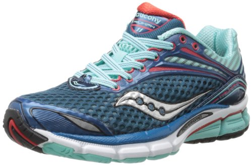 Saucony Womens Triumph 11 Running Shoe Blue/Red
