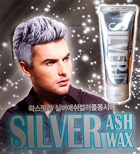 Silver Ash Hair Wax 3.53 oz Hair color Wax Contains 17 Natural plant extracts - Easy Coloring Hair Grey with No Damage]()
