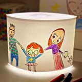 DIY 3-Stage Dimmer Table Lamp - Child Artwork Display NightStand Nightstand for Bedrooms & Living Rooms, Bedside Lights Lampshade Kit, Kid's Art Drawing and Photos for Customized Gift Ideas!
