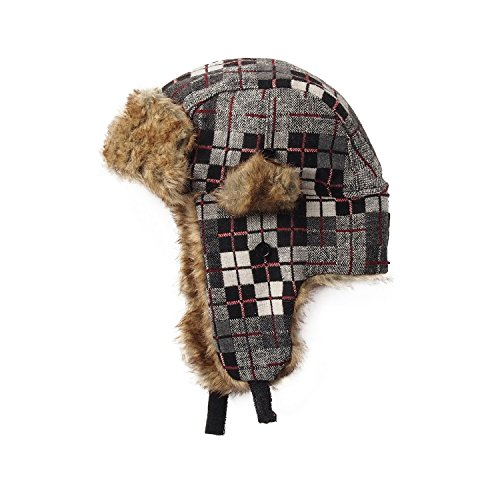 Fashion Hat House Unisex Radford Winter Trapper Hat (One size (24in)) (Red)