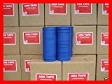 Lot Of 48 Rolls 1'' X60 Yrd Blue Painters Masking Tape