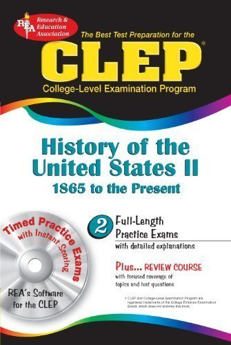 CLEP History of the United States II w/CD-ROM (CLEP Test Preparation) by Marlowe M.A., Lynn Elizabeth Published by Research & Education Association (2006) Paperback
