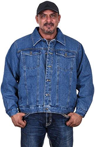 JH DESIGN GROUP Men's Sherpa Lined Cotton Denim Button Down Trucker Jacket (Medium) (Lined Cotton Denim)