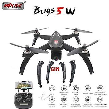 MJX Bugs - Dron B5W de 5 W con cámara de 1080 p, Motor Ajustable ...