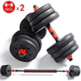 Amon Adjustable Dumbbell Dumbbell with Adjustable Weights - Weight for Weightlifting and Body Building for Exercise Fitting Gym Body Workout (Color : 10KG)