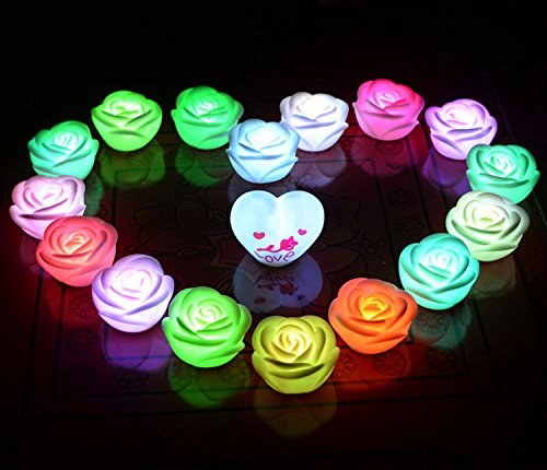 Led Color Changing Rose Shaped Light in US - 6