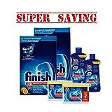 finish dishwasher basket - 2 X Finish Deep Cleaning Lemon Powder 3 Kg & 2 X Jet-Dry Rinse Agent, 621 ml & 2 X Dishwasher Cleaner