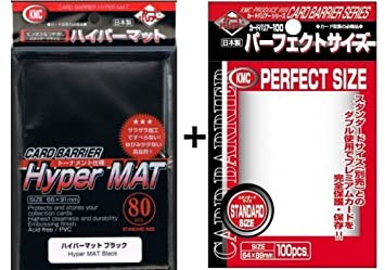 80 KMC Hyper Mat Black + 100 KMC Perfect Size Sleeves ...