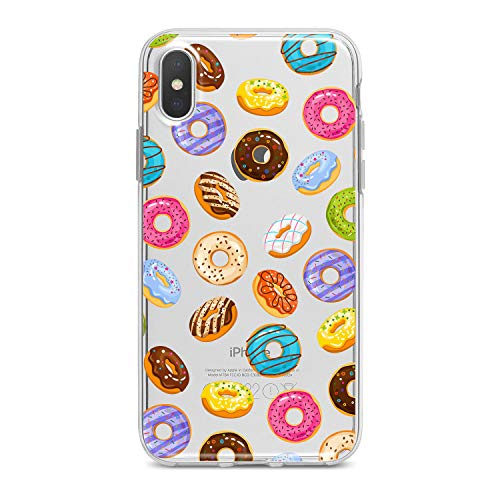 Lex Altern TPU iPhone Case Xs Max Xr X 8 Plus 7 6s 6 SE 5s 5 Clear Sweet Donuts Apple Phone Tasty Cute Cover Pink Print Simple Pattern Protective Design Women Soft Silicone Transparent Flexible -
