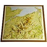 Snowdonia North Raised Relief Map: Dark Wood Frame (Raised Relief Maps Series)