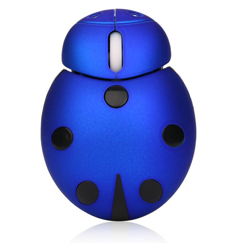 2.4Ghz Beetle Wireless Usb Optional Mouse Mice LED For Laptop/Desktop/PC Gift (Black, 1Set)