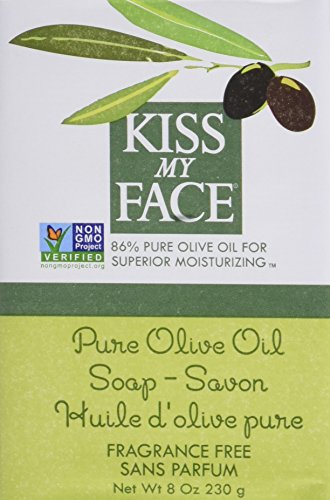 Kiss My Face Bar Soap, Pure Olive Oil, 8 OZ 6 pack