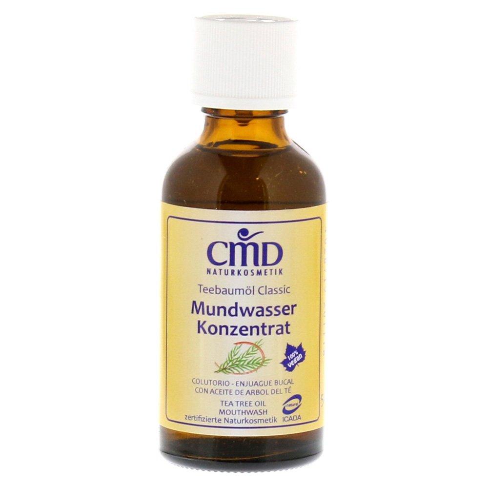 CMD, collutorio all'olio dell'albero del tè, cosmetico naturale, 50ml (etichetta in lingua italiana non garantita) CMD Naturkosmetik