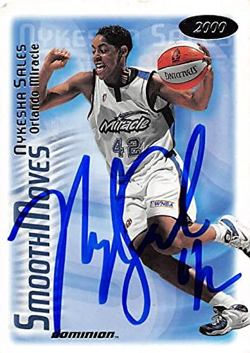 Nykesha Sales autographed Basketball Card (Orlando Miracle) 2000 Skybox Dominion #148 - Unsigned Basketball Cards - 2000 Skybox Dominion Nba Card