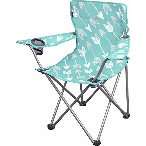 OZARK Trail Youth Folding Chair For all Outdoor Activities Purple Teal Arrows
