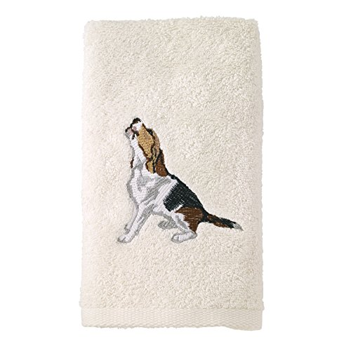 Avanti Linens 021552 Bea Beagle Hand Towel 2 Pack, Ivory, 2 Piece