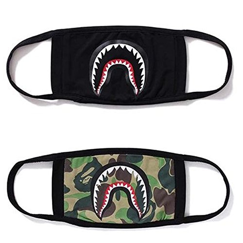 2 Pack Camping First Aid Kits Bape Black Black Shark Face Mask]()