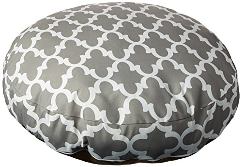 Gray Trellis Medium Round Indoor Outdoor Pet Dog Bed With Removable Washable Cover By Majestic Pet Products Review