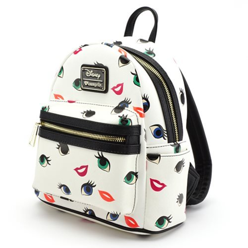 9f047790ec Loungefly X Disney Princess Eyes Lips AOP Mini Backpack  Amazon.co.uk   Clothing