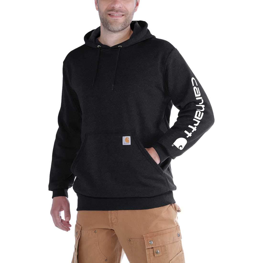 Carhartt Workwear K288 Herren-Sweatshirt mit Kapuze - Mittelschwer - Langärmelig mit Logo