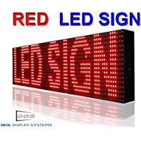 Outdoor, P10 Red Color 6x25 Led Sign for Storefront Message Board, Programmable Scrolling Display - Industrial Grade Business Tools