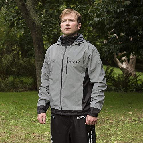 Proviz Männer REFLECT360 Fleece Lined 100% reflektierende und wasserdichte Outdoor Jacke