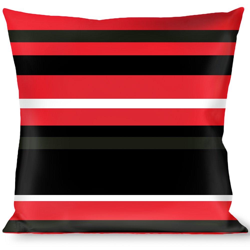 Buckle Down Throw Pillow Red/Black/White, Stripes