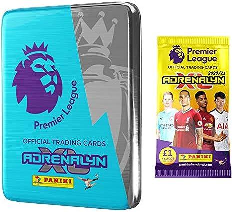 Panini Adrenalyn 2020-21 Premier League Cards 6 Packs + 2 LE Cards Mini Tin