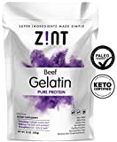Product review for Unflavored Gelatin Powder (10 oz): Anti Aging Collagen Supplements, Protein, Paleo Friendly, Grass Fed Beef, Non GMO - Baking & Thickening - Beauty, Skin, Hair & Nails