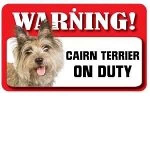 Perro Señal de Advertencia - Cairn Terrier