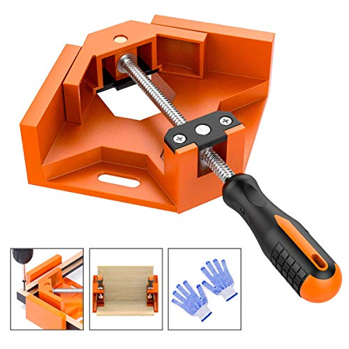 Frylr 90° Right Angle Clamps/Adjustable Corner Clamp Holder Tools with Adjustable Swing Jaw for Carpenter, Welding, Wood-working, Engineering, Photo Framing