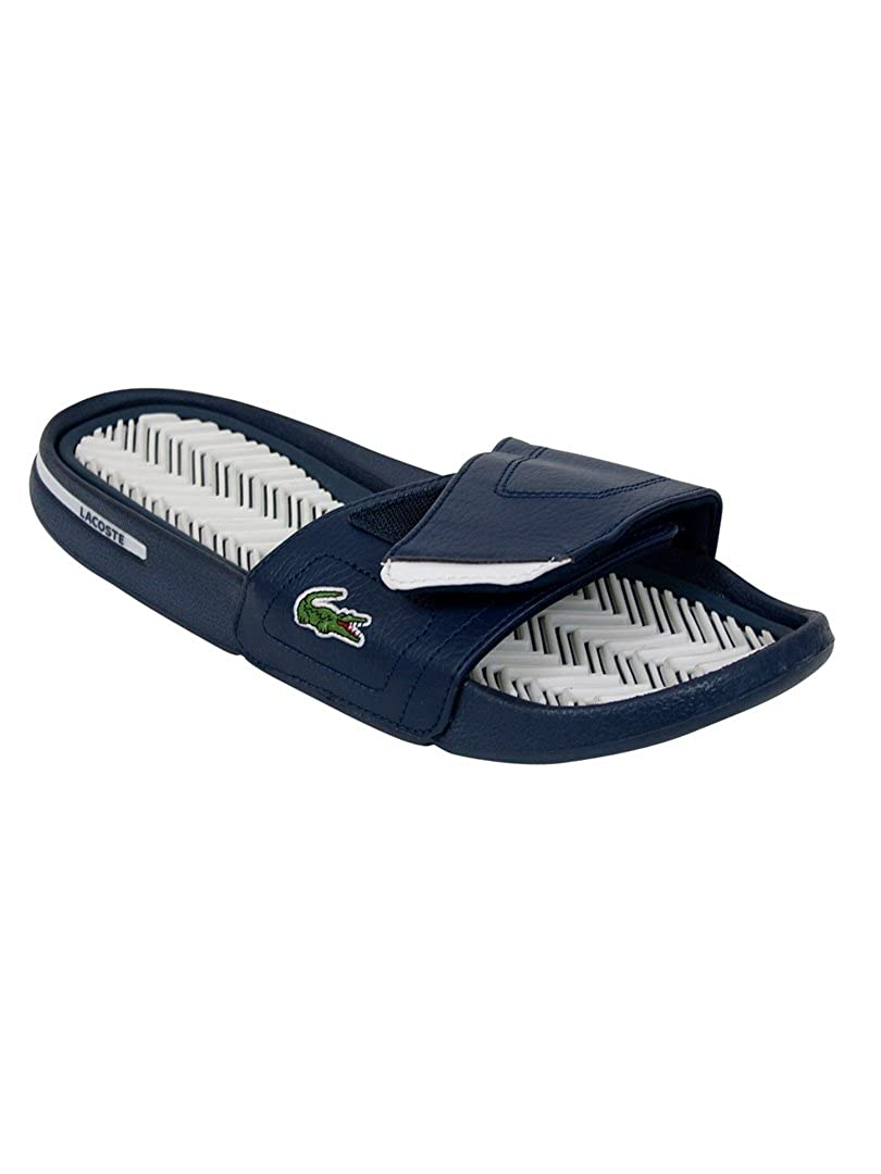 b83571e69c13 Lacoste - Dark Blue White Molitor Flip Flops - Mens - Size  UK 11   Amazon.co.uk  Shoes   Bags