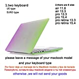 """4 Styles Gradient Rainbow Rubberized Matte Hard Case Keyboard Cover Skinfor Macbook Air 11 13.3 Pro 13 15 Retina 13"""" 15""""^3.For Macbook Air 11"""