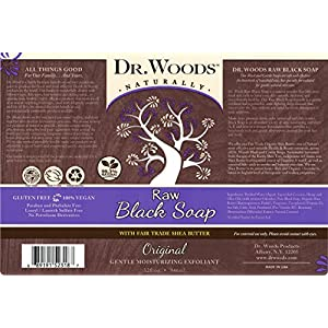 Dr. Woods Raw Black Moisturizing Liquid Soap with Organic Shea Butter, 32 Ounce