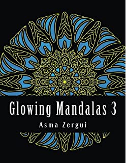 Glowing Mandalas 3 Adult Coloring Book With Black Pages Volume