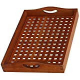 Bare Decor Teak Onsen Spa Tray solid Teak Wood, Natural Finish