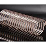 Hose MXJ61 PU Tube High Pressure Resistance Steel Wire Woodworking Transparent Adjustable Industrial Air Duct 1m (Size : Inner diameter 45mm)